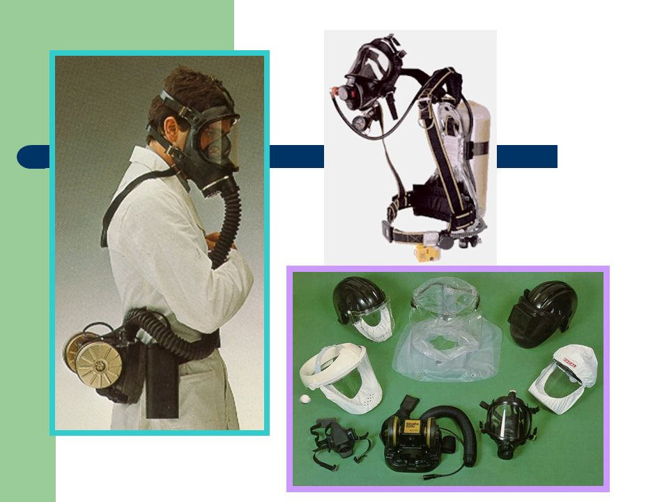 Proteção Respiratória Proteção do sistema respiratório contra gases, vapores, névoas, poeiras. Máscaras de proteção respiratória