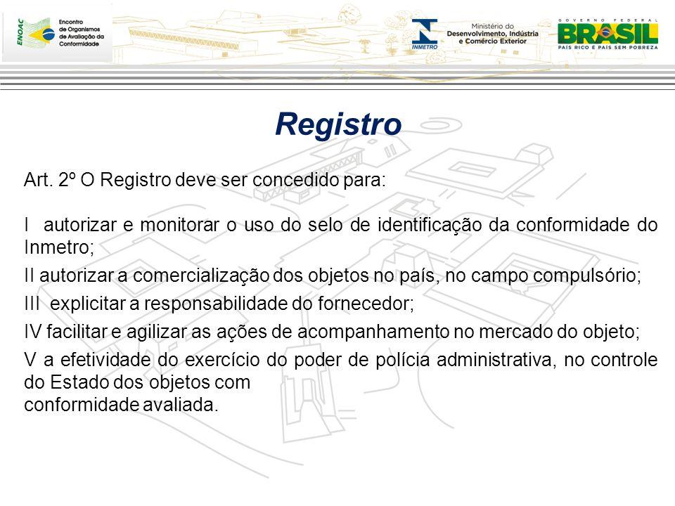 Fornecedor Inmetro ComércioComércio Processo de Registro