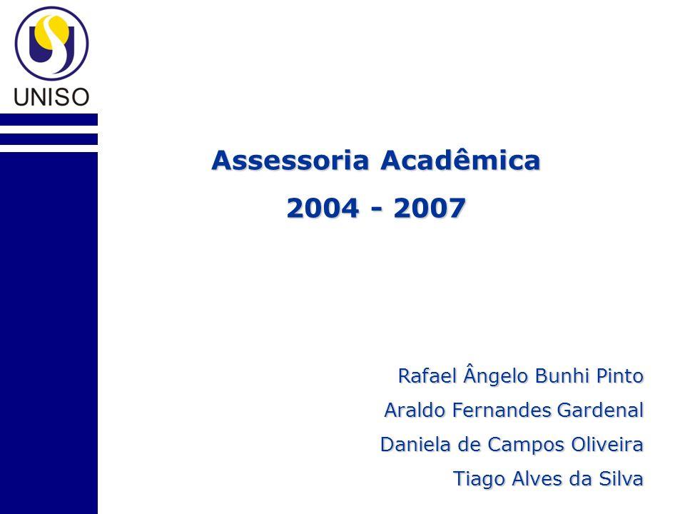 Assessoria Acadêmica 2004 - 2007 Rafael Ângelo Bunhi Pinto Araldo Fernandes Gardenal Daniela de Campos Oliveira Tiago Alves da Silva