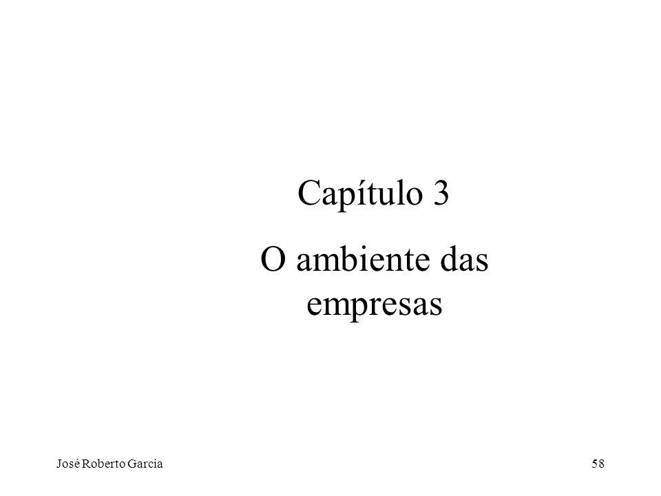 José Roberto Garcia58 Capítulo 3 O ambiente das empresas