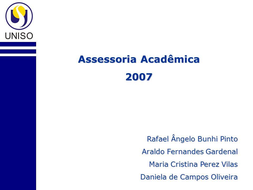 Assessoria Acadêmica 2007 Rafael Ângelo Bunhi Pinto Araldo Fernandes Gardenal Maria Cristina Perez Vilas Daniela de Campos Oliveira
