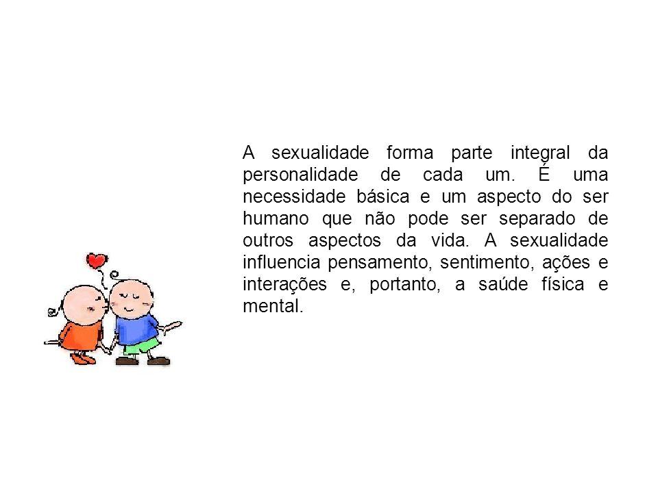 A sexualidade forma parte integral da personalidade de cada um. É uma necessidade básica e um aspecto do ser humano que não pode ser separado de outro