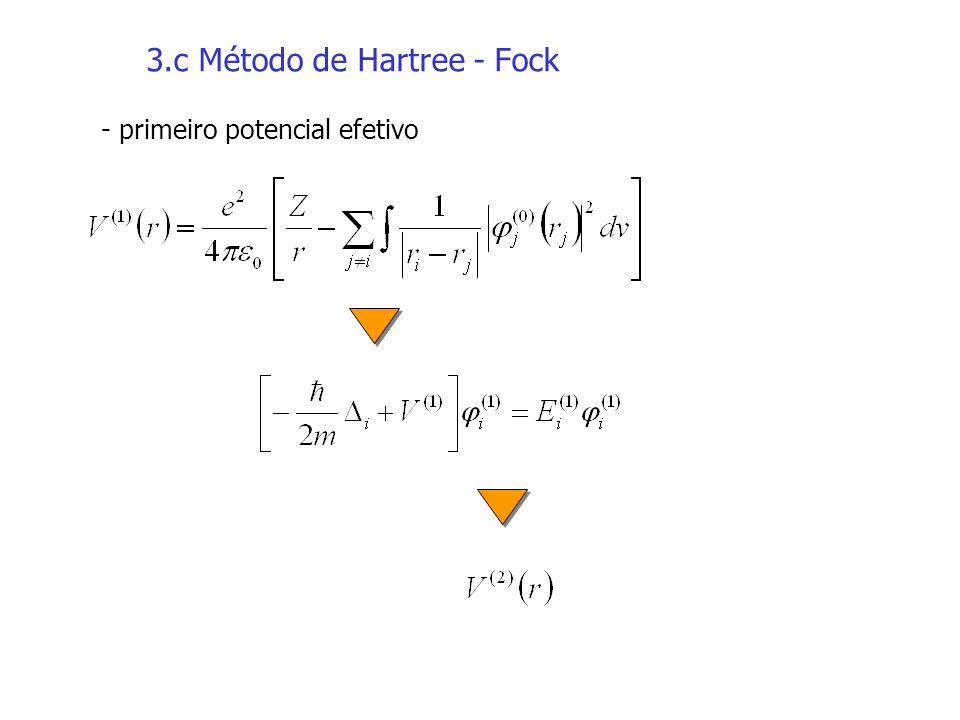 3.c Método de Hartree - Fock - primeiro potencial efetivo