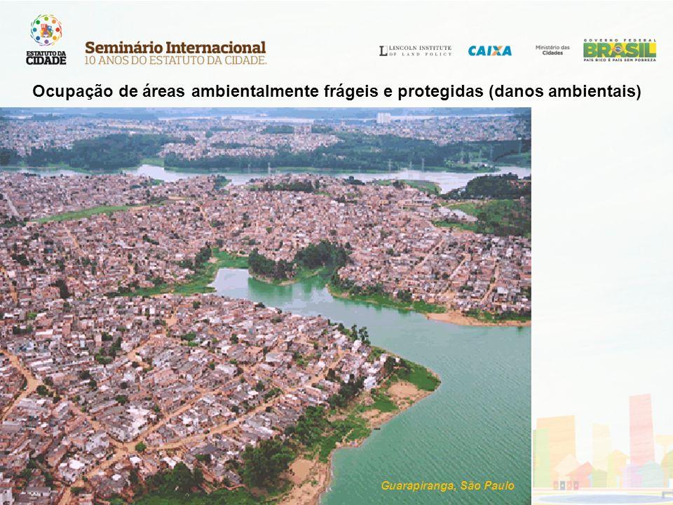 Guarapiranga, São Paulo Ocupação de áreas ambientalmente frágeis e protegidas (danos ambientais)