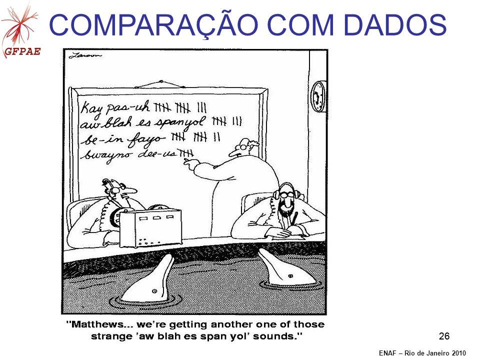 26 COMPARAÇÃO COM DADOS ENAF – Rio de Janeiro 2010