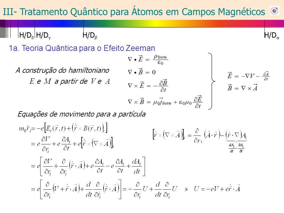 1b. Teoria Quântica para o Efeito Zeeman