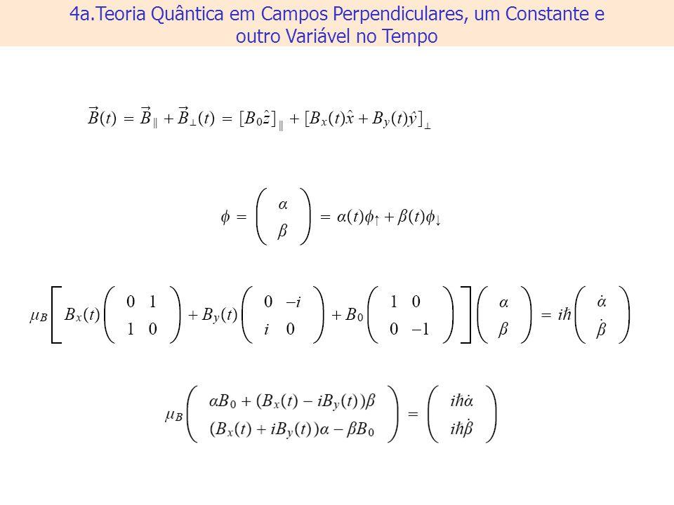 4a.Teoria Quântica em Campos Perpendiculares, um Constante e outro Variável no Tempo