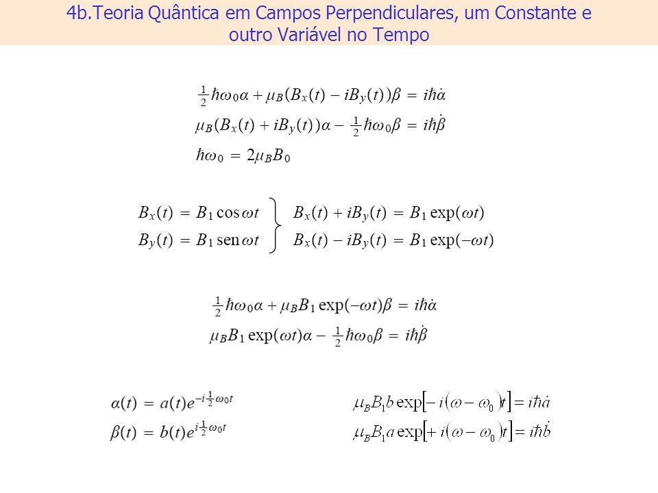 4b.Teoria Quântica em Campos Perpendiculares, um Constante e outro Variável no Tempo