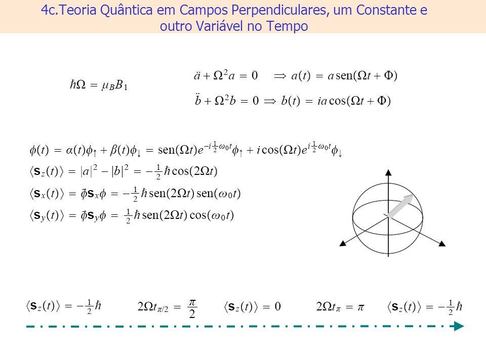 4c.Teoria Quântica em Campos Perpendiculares, um Constante e outro Variável no Tempo