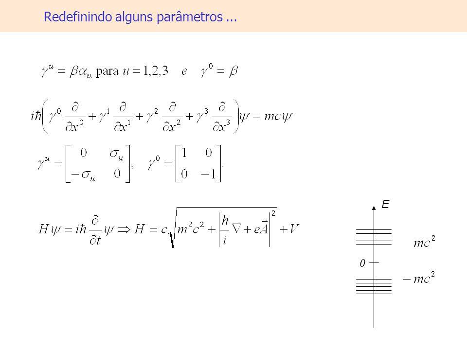 Redefinindo alguns parâmetros... 0 E
