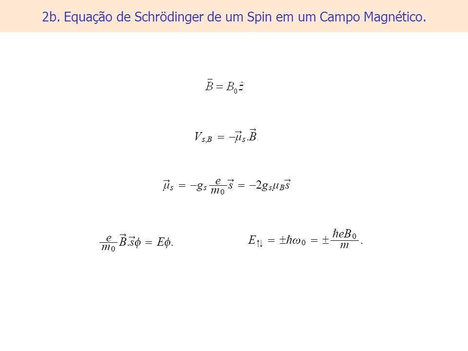 2b. Equação de Schrödinger de um Spin em um Campo Magnético.