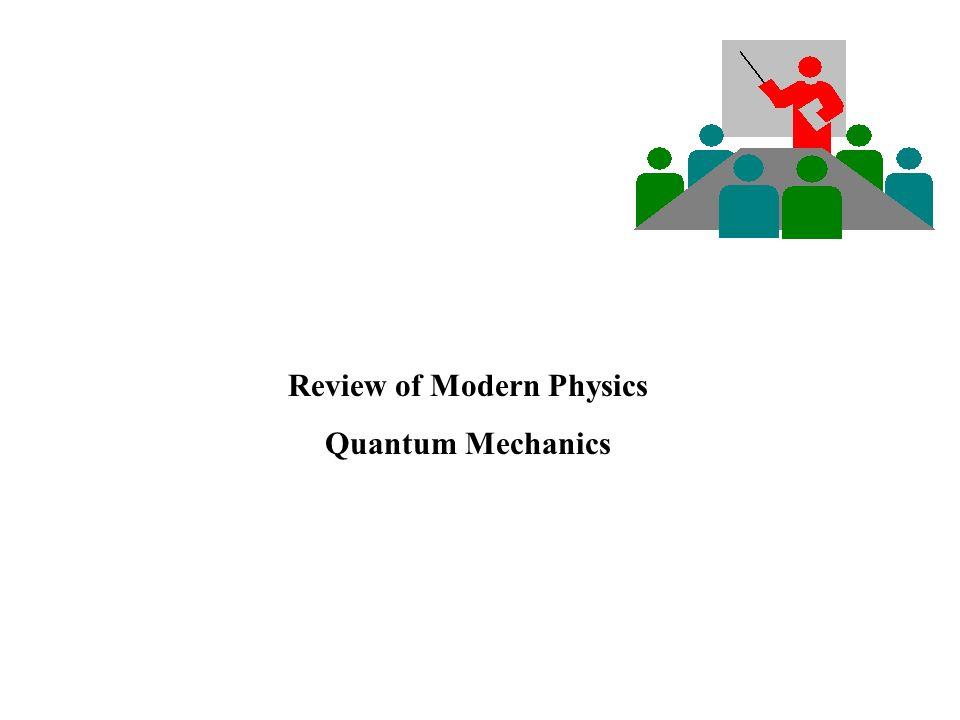 Review of Modern Physics Quantum Mechanics