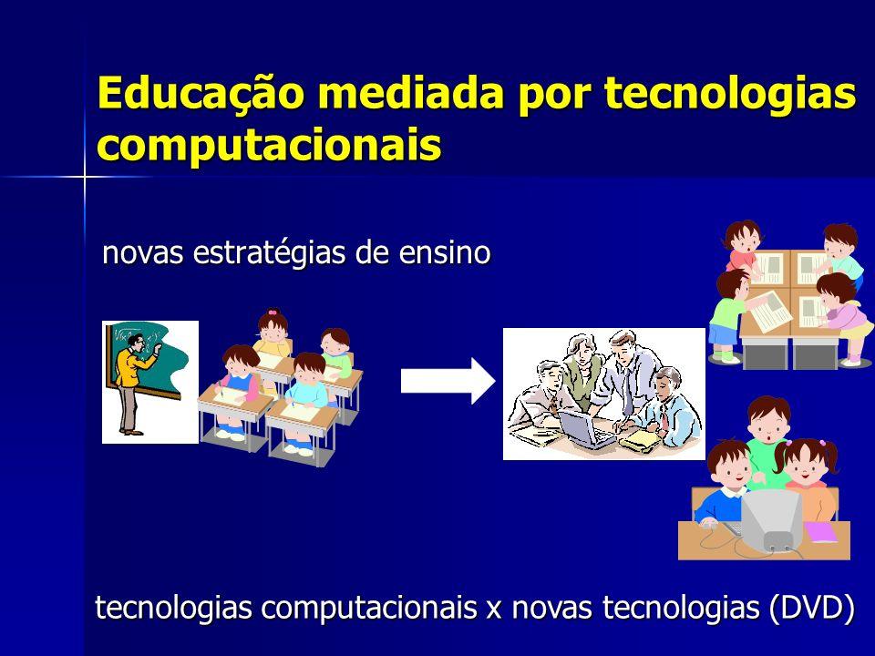 Educação mediada por tecnologias computacionais novas estratégias de ensino novas estratégias de ensino tecnologias computacionais x novas tecnologias (DVD)