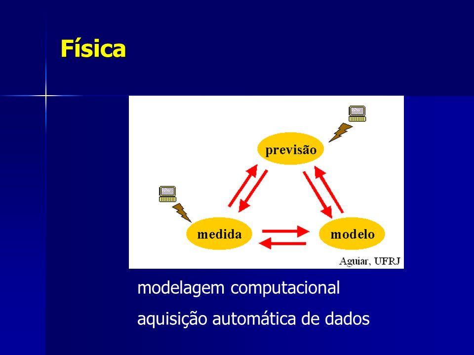 Física modelagem computacional aquisição automática de dados