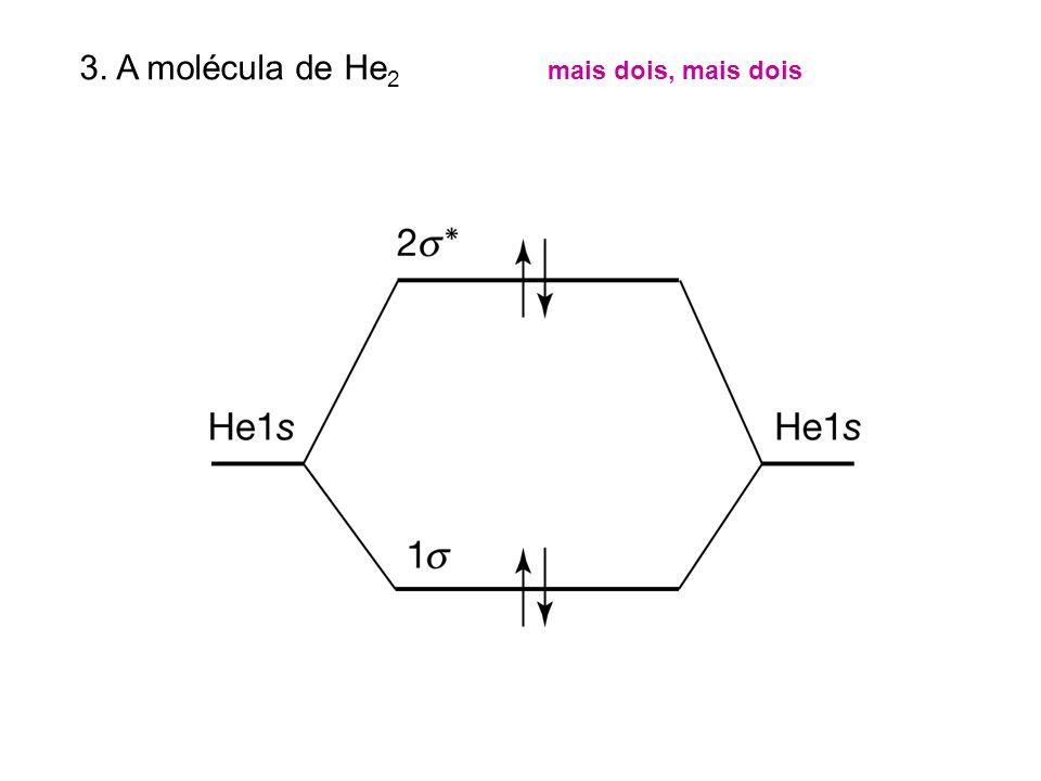 3. A molécula de He 2 mais dois, mais dois