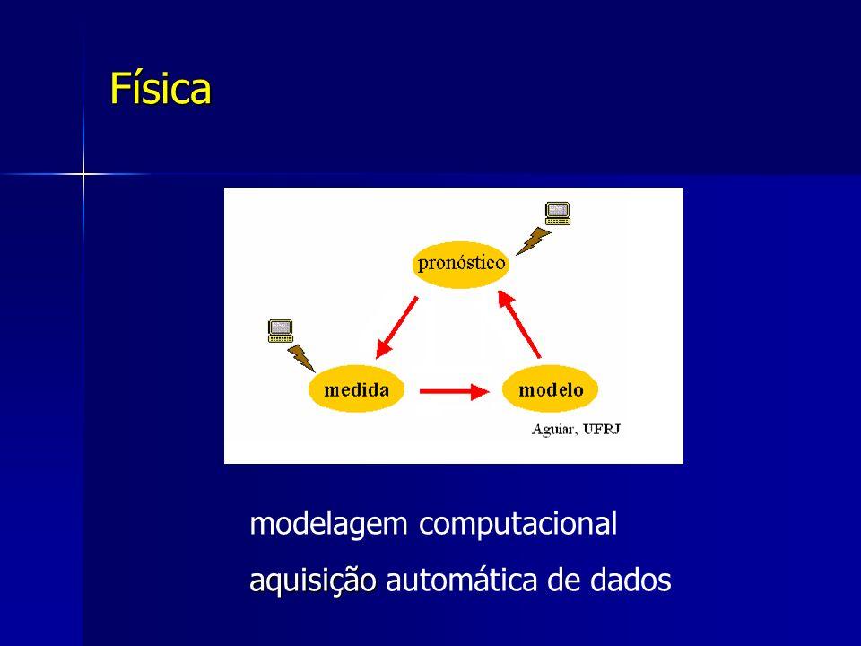Física modelagem computacional aquisição aquisição automática de dados