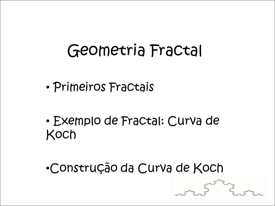 Figura 3: Construção da Curva de Koch.