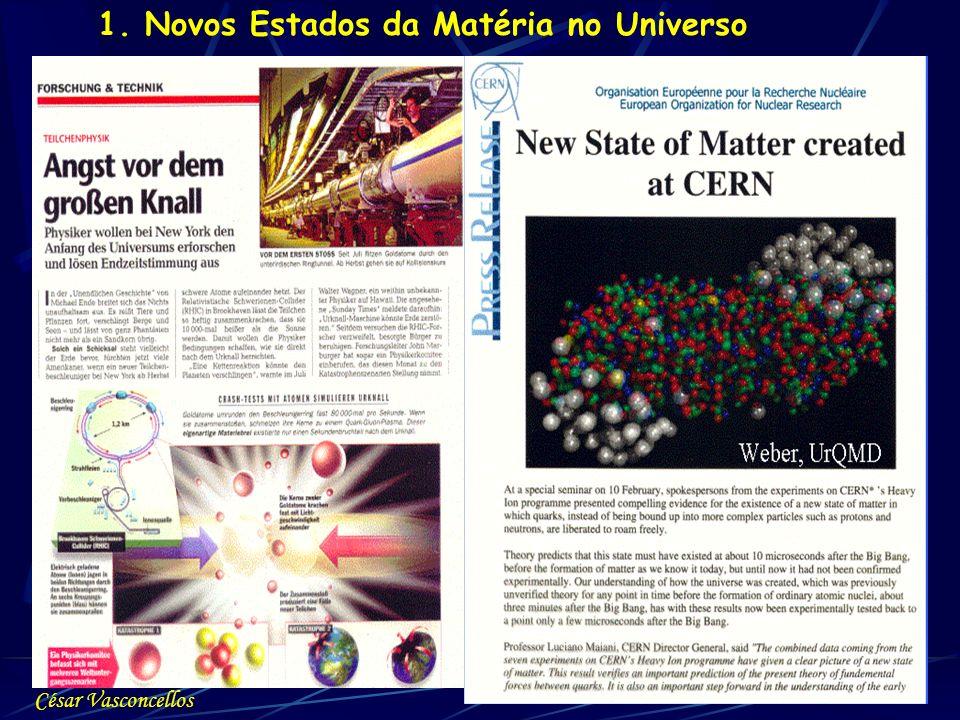 1. Novos Estados da Matéria no Universo César Vasconcellos