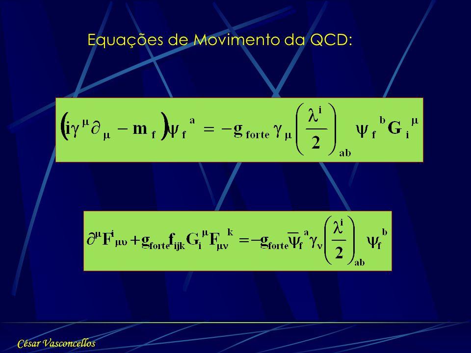 Equações de Movimento da QCD: César Vasconcellos