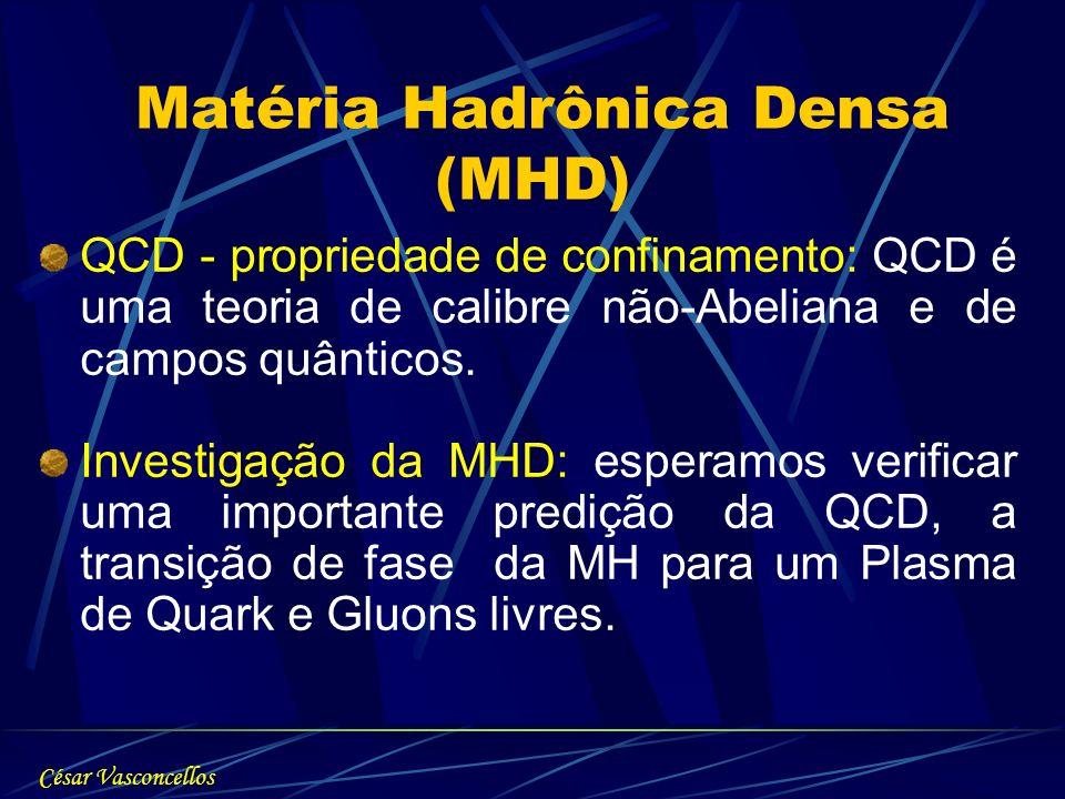 QCD - propriedade de confinamento: QCD é uma teoria de calibre não-Abeliana e de campos quânticos. Investigação da MHD: esperamos verificar uma import
