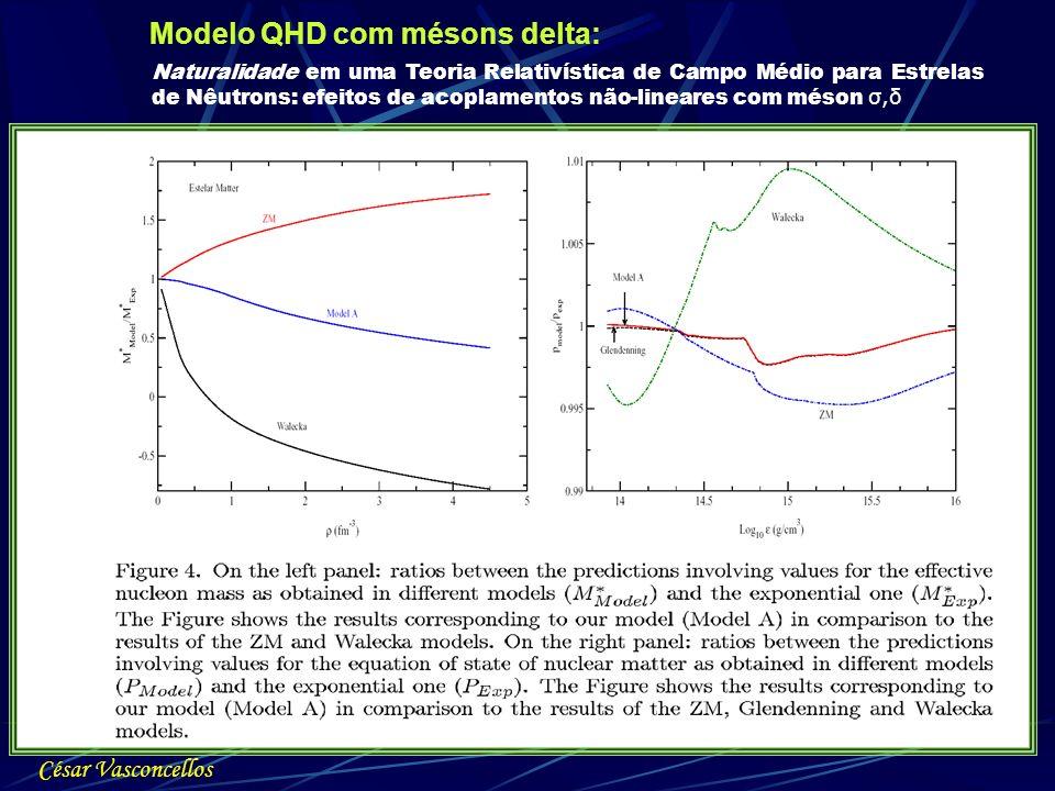 Modelo QHD com mésons delta: César Vasconcellos Naturalidade em uma Teoria Relativística de Campo Médio para Estrelas de Nêutrons: efeitos de acoplame