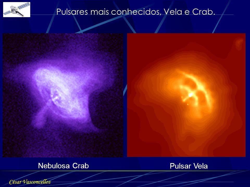 Nebulosa Crab Pulsar Vela César Vasconcellos Pulsares mais conhecidos, Vela e Crab.