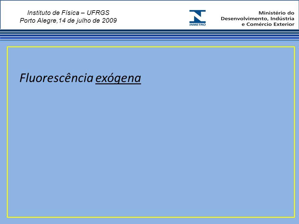 Instituto de Física – UFRGS Porto Alegre,14 de julho de 2009 Fluorescência exógena