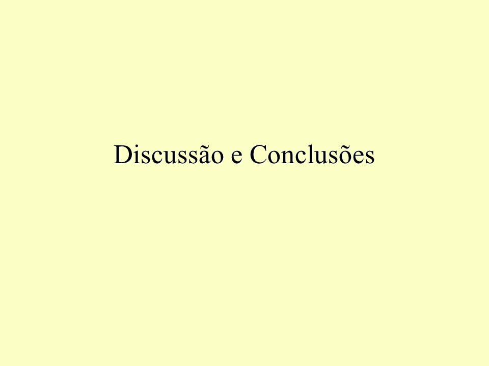 Discussão e Conclusões