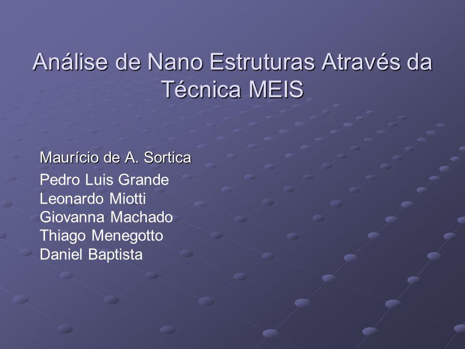 Análise de Nano Estruturas Através da Técnica MEIS Maurício de A.
