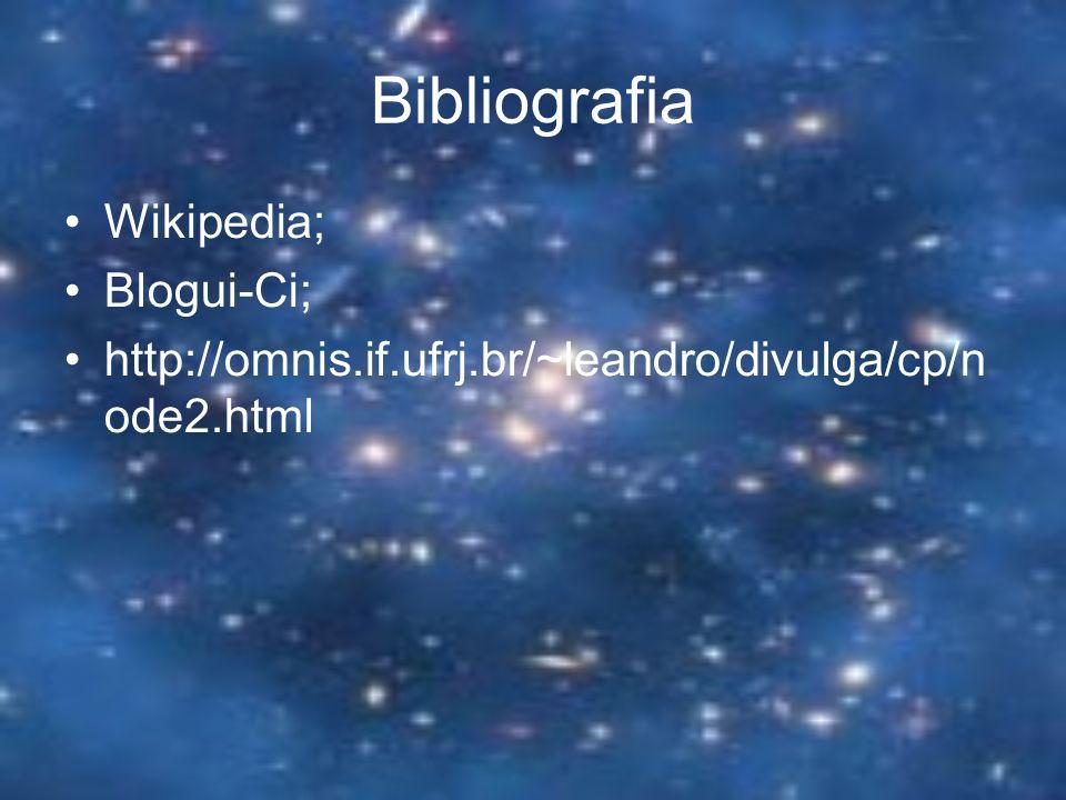 Bibliografia Wikipedia; Blogui-Ci; http://omnis.if.ufrj.br/~leandro/divulga/cp/n ode2.html