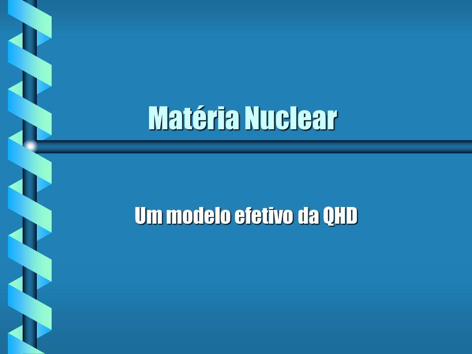 Matéria Nuclear Matéria Nuclear Um modelo efetivo da QHD Um modelo efetivo da QHD