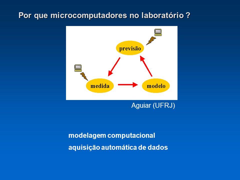 Por que microcomputadores no laboratório ? Aguiar (UFRJ) modelagem computacional aquisição automática de dados