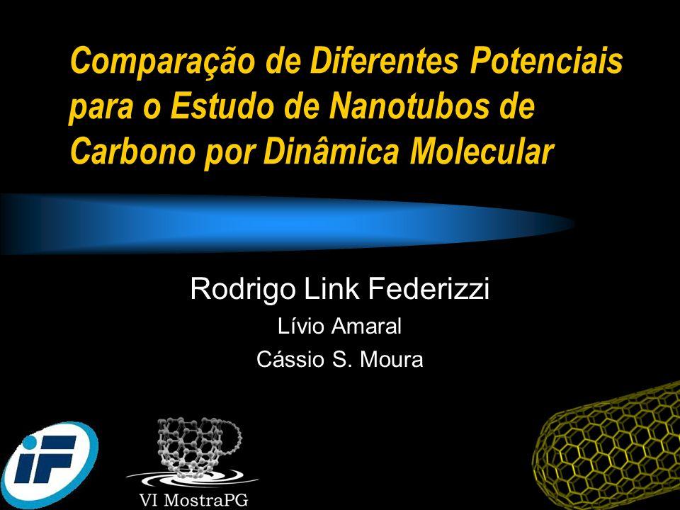 Comparação de Diferentes Potenciais para o Estudo de Nanotubos de Carbono por Dinâmica Molecular Rodrigo Link Federizzi Lívio Amaral Cássio S. Moura