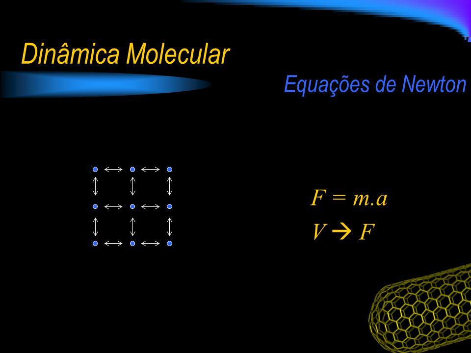 Dinâmica Molecular F = m.a V F Equações de Newton