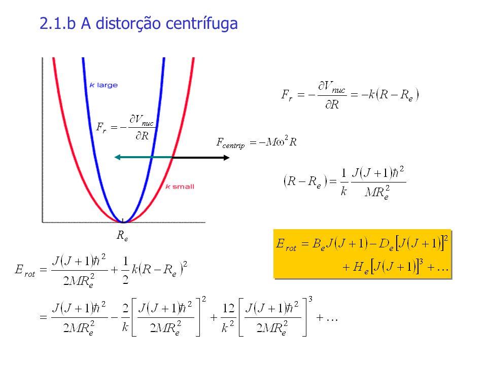 2.2 A vibração A energia de vibração deste sistema é: É a do oscilador harmônico.