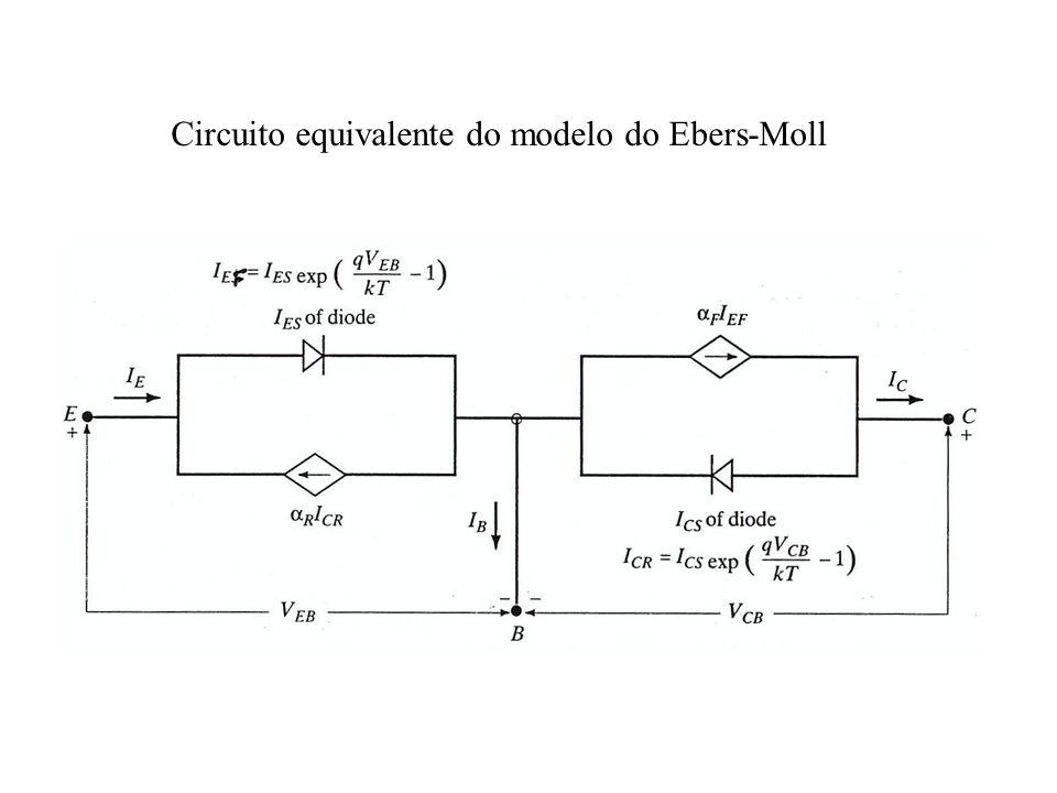 Circuito equivalente do modelo do Ebers-Moll