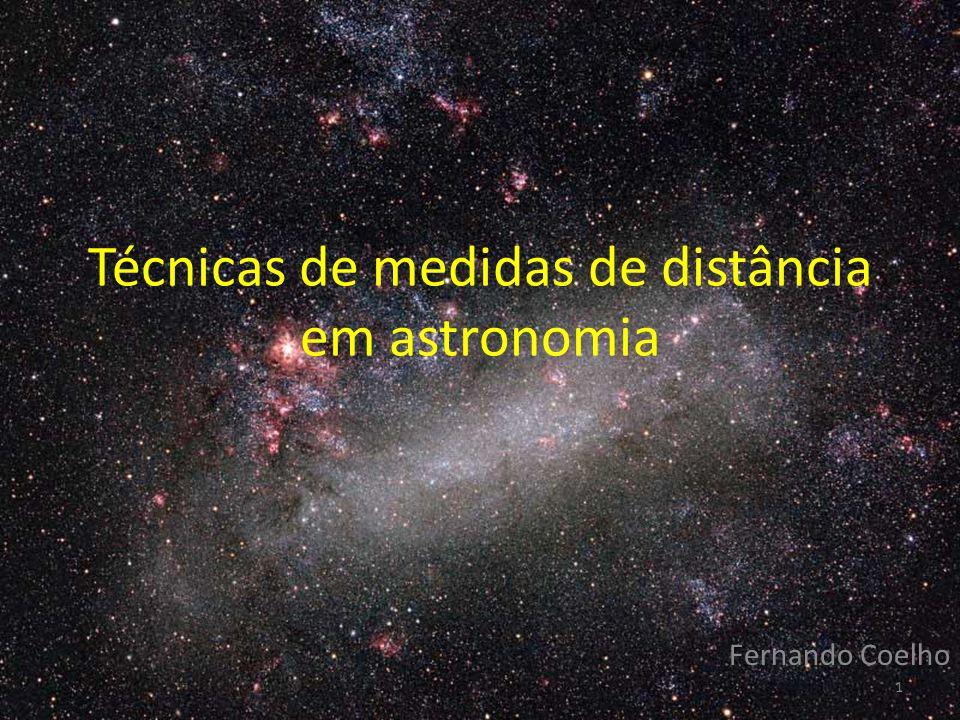 Técnicas de medidas de distância em astronomia Fernando Coelho 1