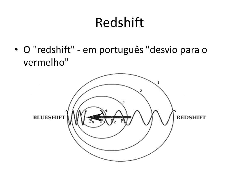 Redshift O redshift - em português desvio para o vermelho