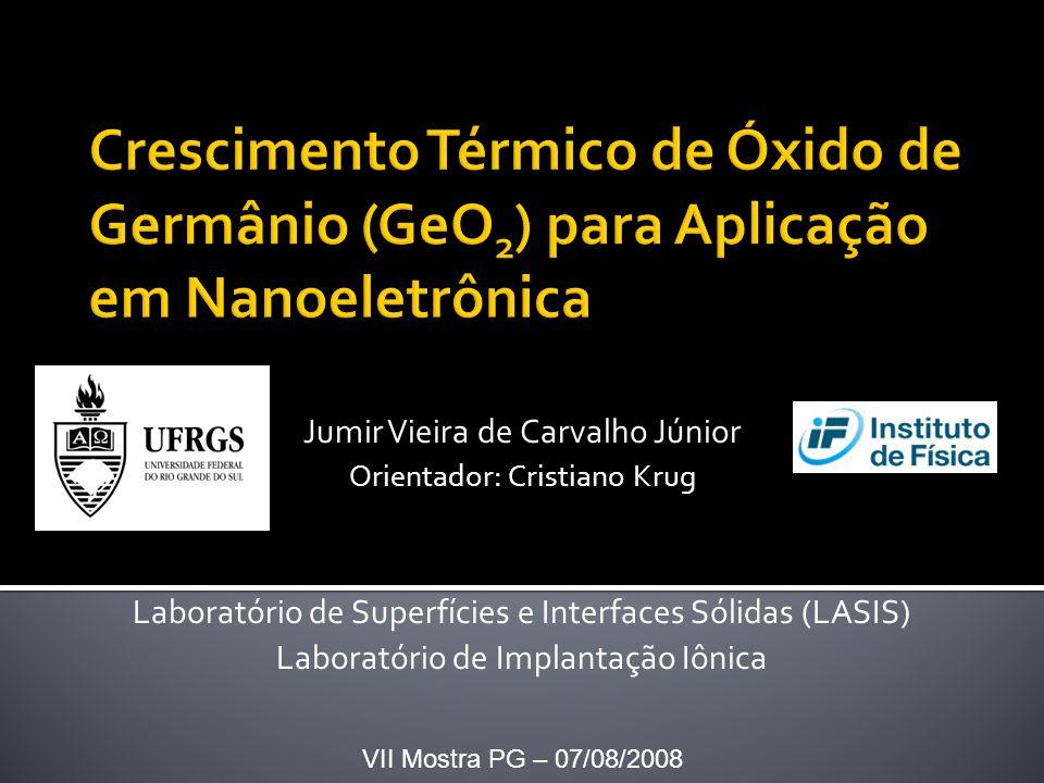 Jumir Vieira de Carvalho Júnior Orientador: Cristiano Krug Laboratório de Superfícies e Interfaces Sólidas (LASIS) Laboratório de Implantação Iônica VII Mostra PG – 07/08/2008