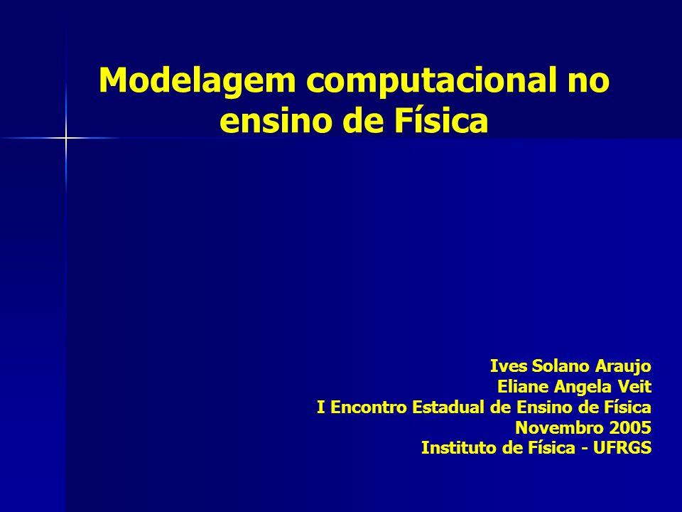 Simulação e modelagem computacional no ensino de Física o computador como uma ferramenta cognitiva modelos científicos e modelagem computacional exemplos de softwares para modelagem no ensino de Ciências atividades exploratórias e expressivas (criação) metodologias de apoio: POE