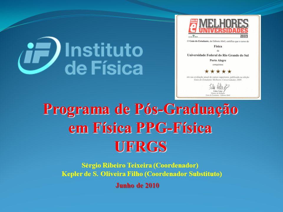 Programa de Pós-Graduação em Física PPG-Física UFRGS Junho de 2010 Sérgio Ribeiro Teixeira (Coordenador) Kepler de S.