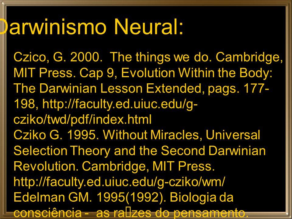 A essência do Darwinismo: 1.