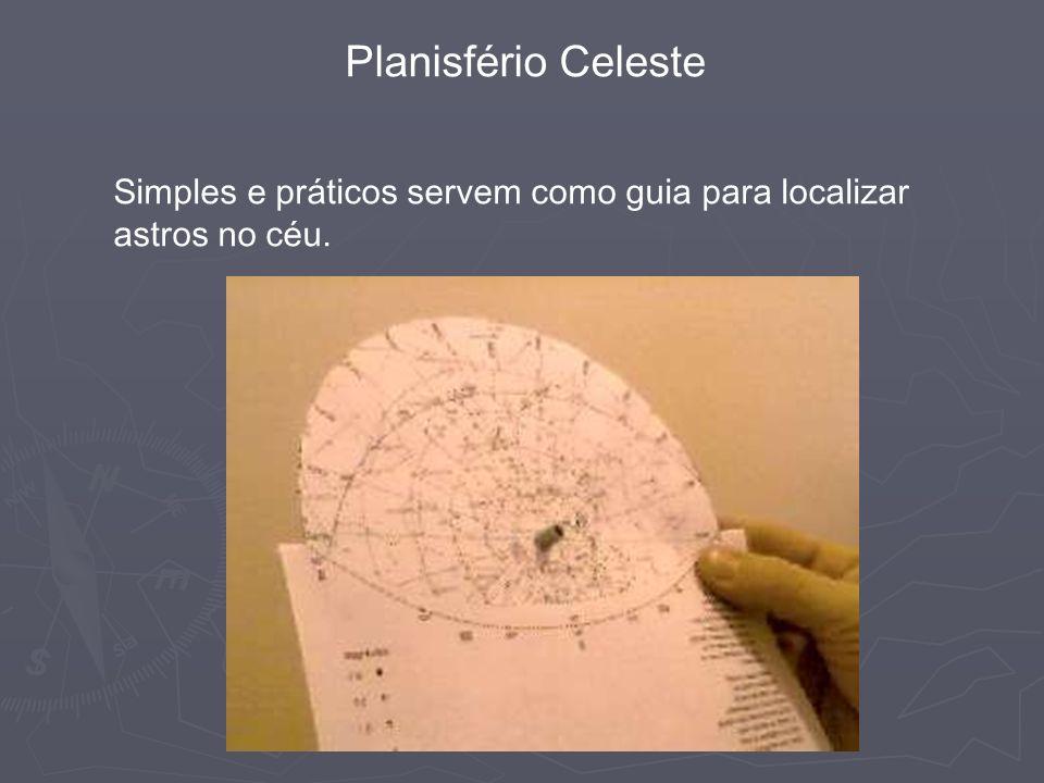 Planisfério Celeste Simples e práticos servem como guia para localizar astros no céu.