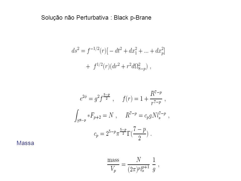 Solução não Perturbativa : Black p-Brane Massa