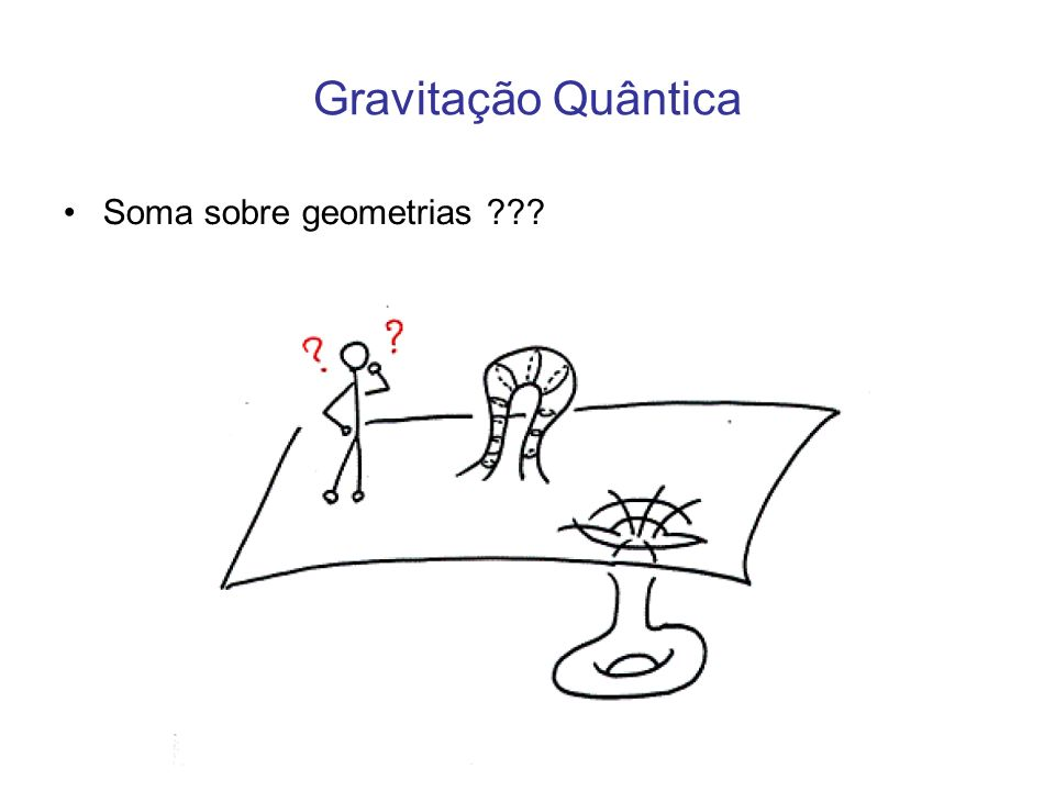 Gravitação Quântica Soma sobre geometrias ???