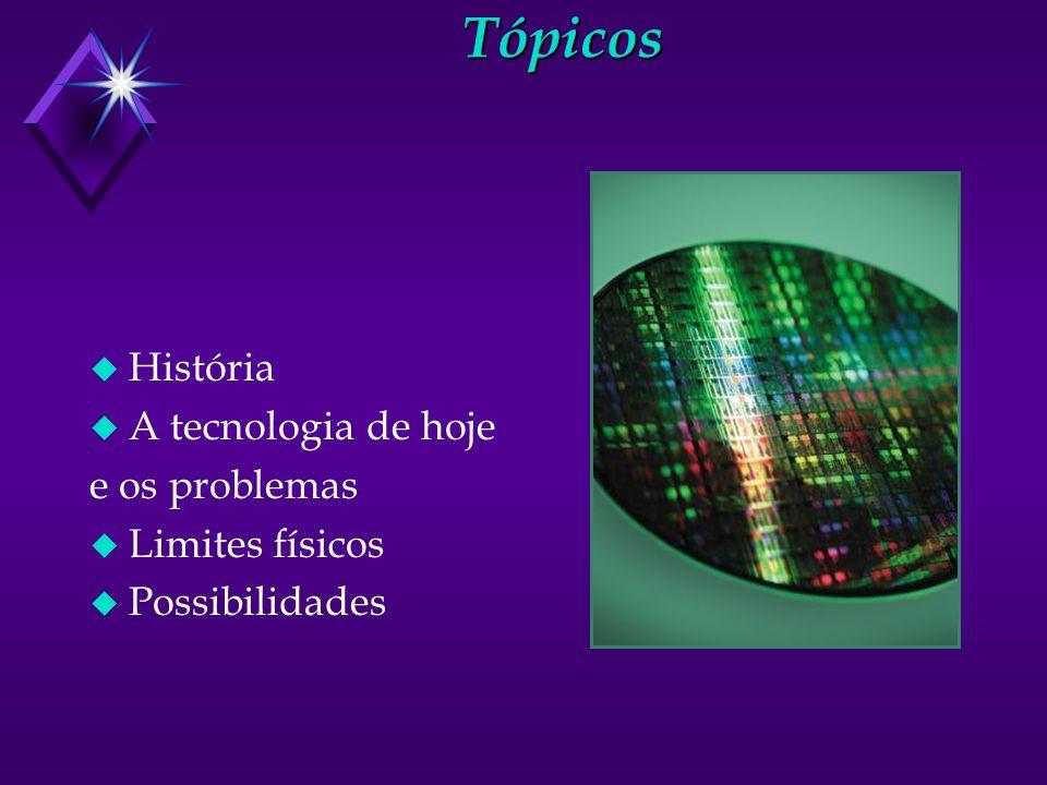 Tópicos u História u A tecnologia de hoje e os problemas u Limites físicos u Possibilidades