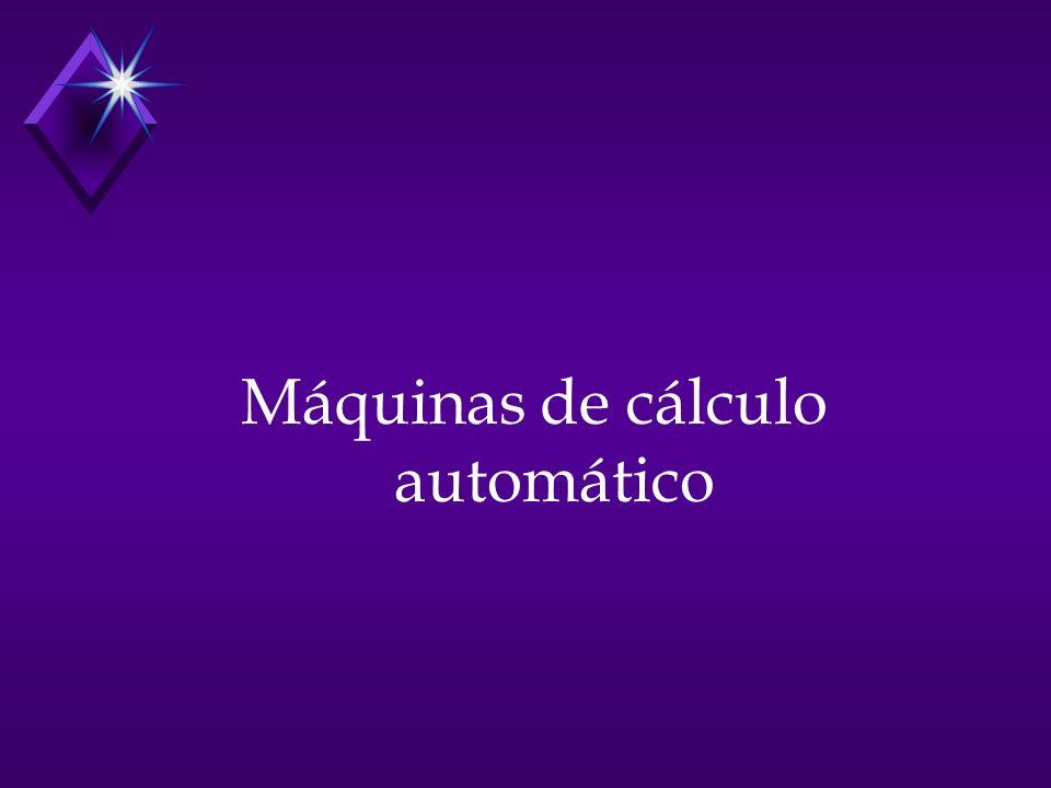 Máquinas de cálculo automático