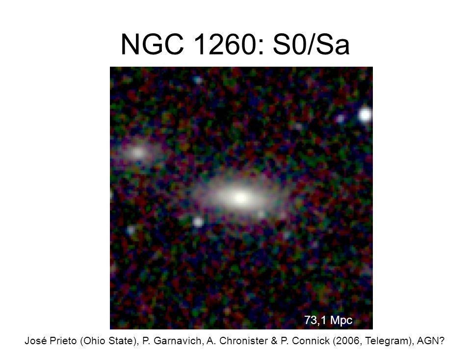 NGC 1260: S0/Sa José Prieto (Ohio State), P. Garnavich, A.