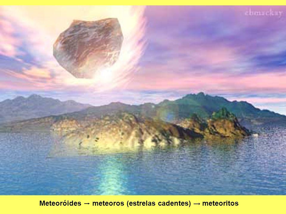 Meteoróides meteoros (estrelas cadentes) meteoritos