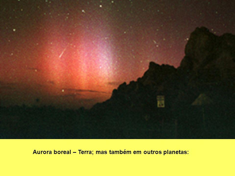 Aurora boreal – Terra; mas também em outros planetas: